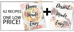 Food with an Instant Pot in the background