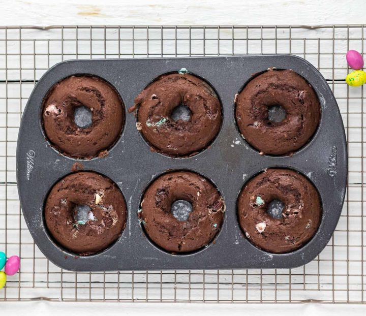 cooked donuts in the pan