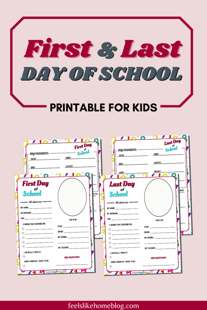 Printable First & Last Day of School Interview Questions for Kids