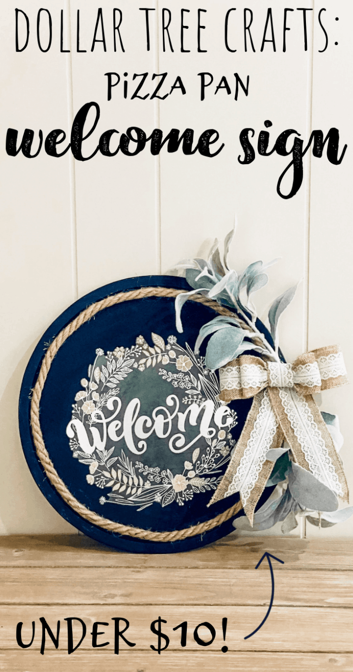 How to Make a Wreath Welcome Sign - Easy Dollar Tree Crafts