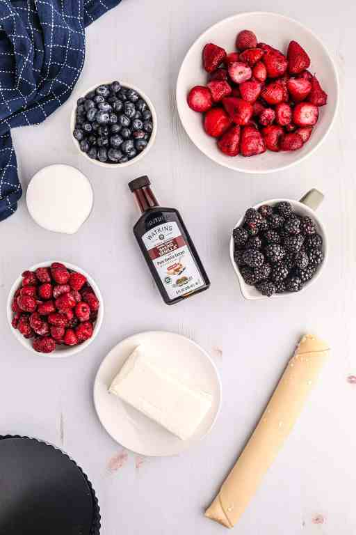 ingredients for july 4th fruit tart