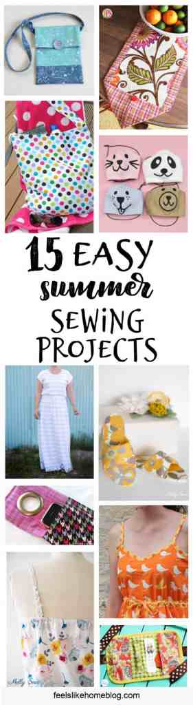 collage of summer sewing projects