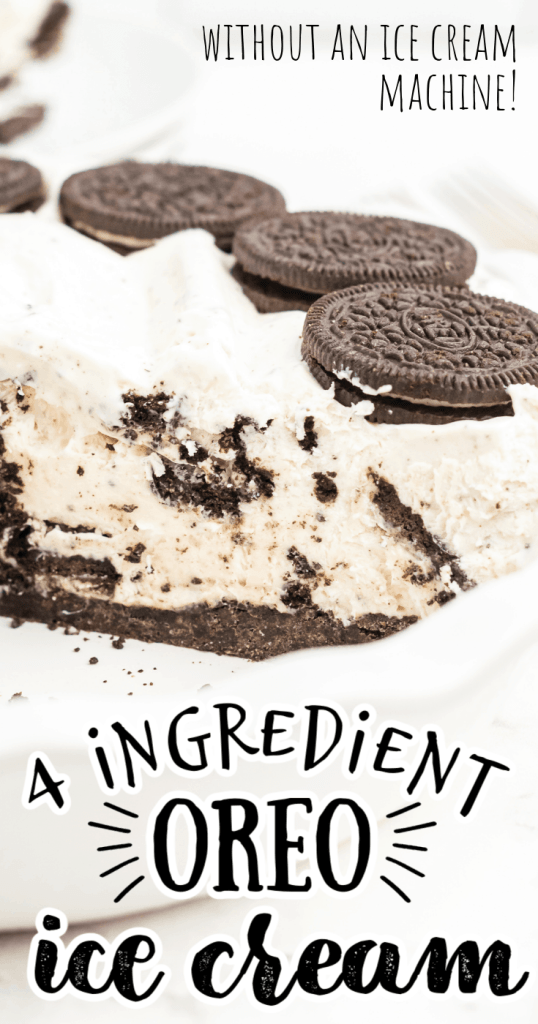 an Oreo ice cream pie with one slice missing