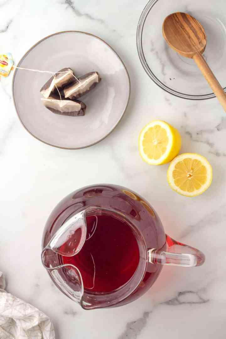 finished sweet tea