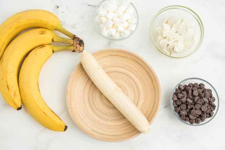 peeled banana on a plate