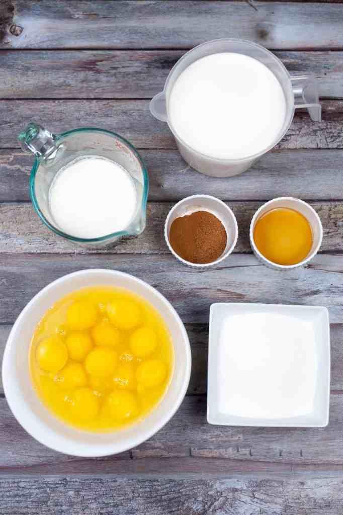 homemade eggnog ingredients