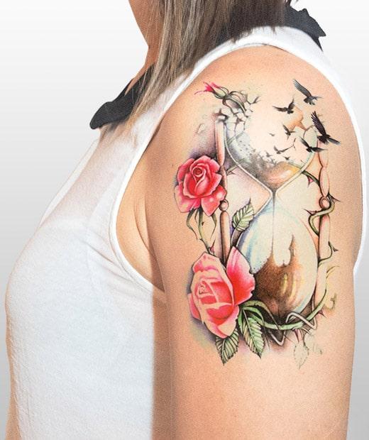 Tattoo Reloj De Arena Mujer Sfb