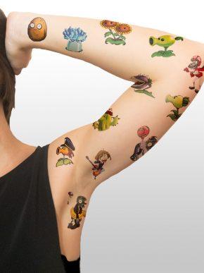 Tatuaje Temporal Love Caligrafia Feel Tattoo