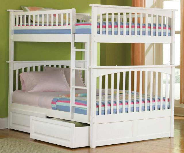 Girls Bunk Beds with Storage