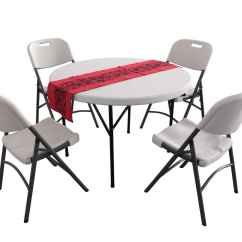 Card Table And Chairs Costco Wood Horse Rocking Chair Round Folding Tables Feel The Home