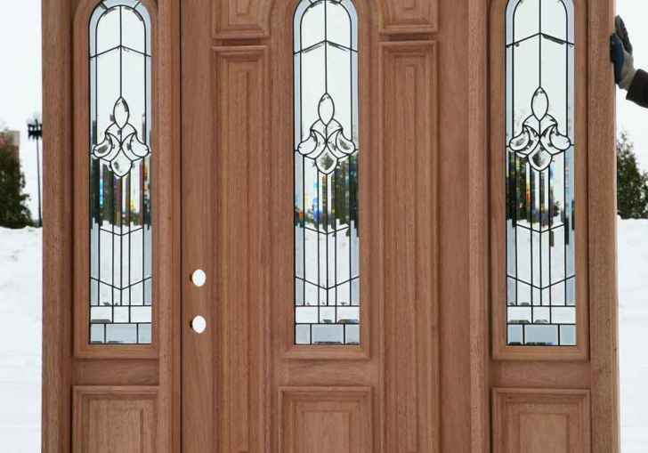 Wood Front Door With Sidelight