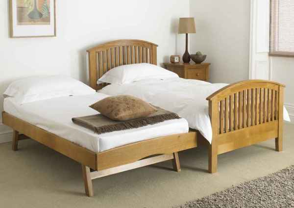 Twin Bed Frame with Pop Up Trundle