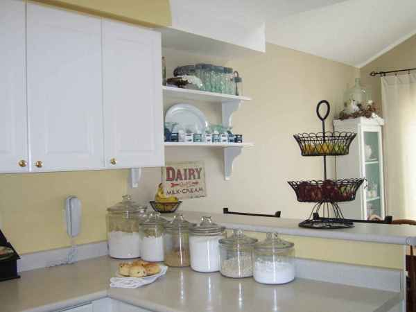 Kitchen Cabinets with Beadboard