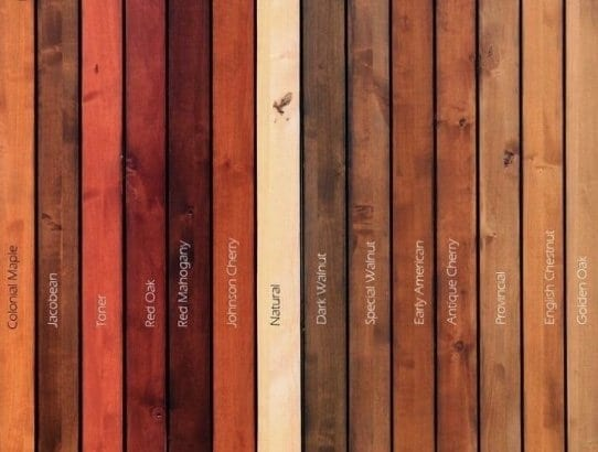 Different choices of wood-stain