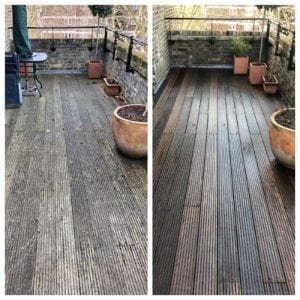 pressure cleaning decking and woodwork