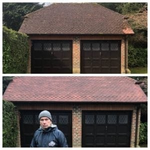 pressure cleaning roofs with pressure cleaning in London