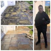 Doff super heated patio cleaning & black spot removal service
