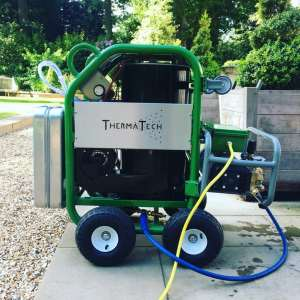 ThermaTech and/ or a DOFF Cleaner is more effective than industrial steam cleaners or pressure cleaners and causes no damage to the surface
