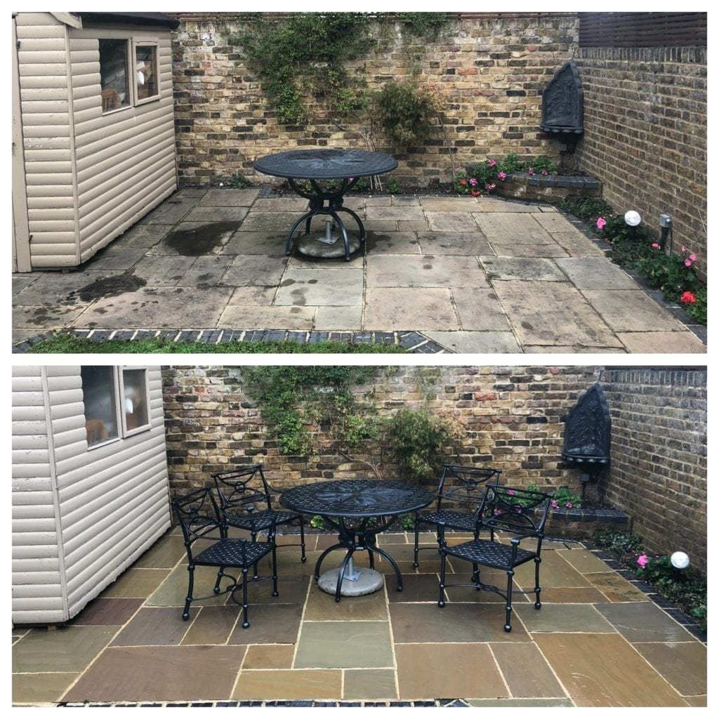 feel the pressure uk patio black spot removal service, richmond, london