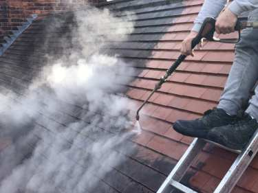 Feel the pressure UK roof cleaning services