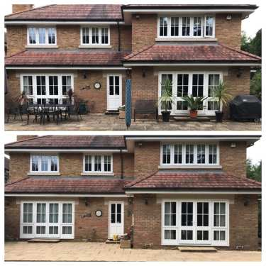 Feel the pressure UK before and after patio pressure washing service