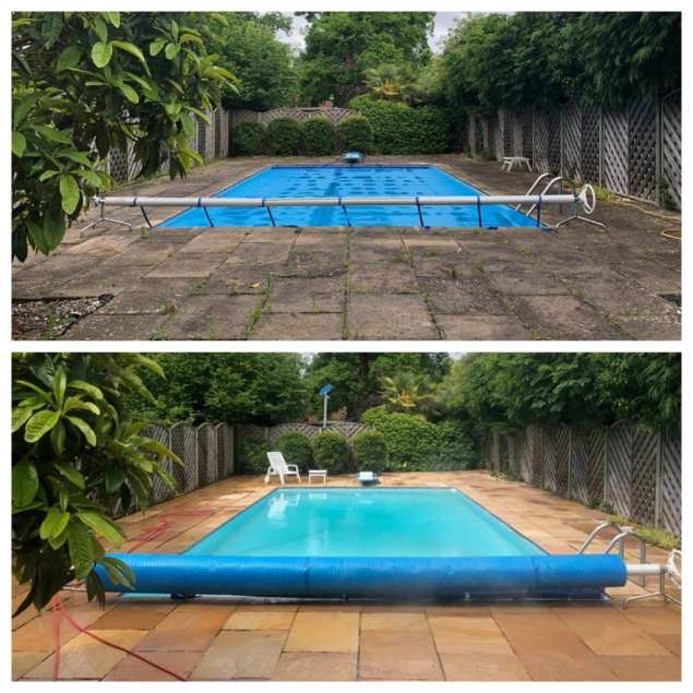 professional stone cleaning before and after, Feel the pressure UK