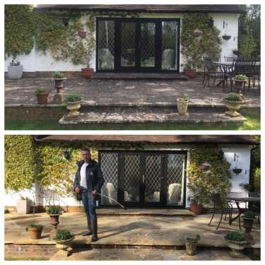 natural stone patio cleaning & black spot removal service Hampstead London