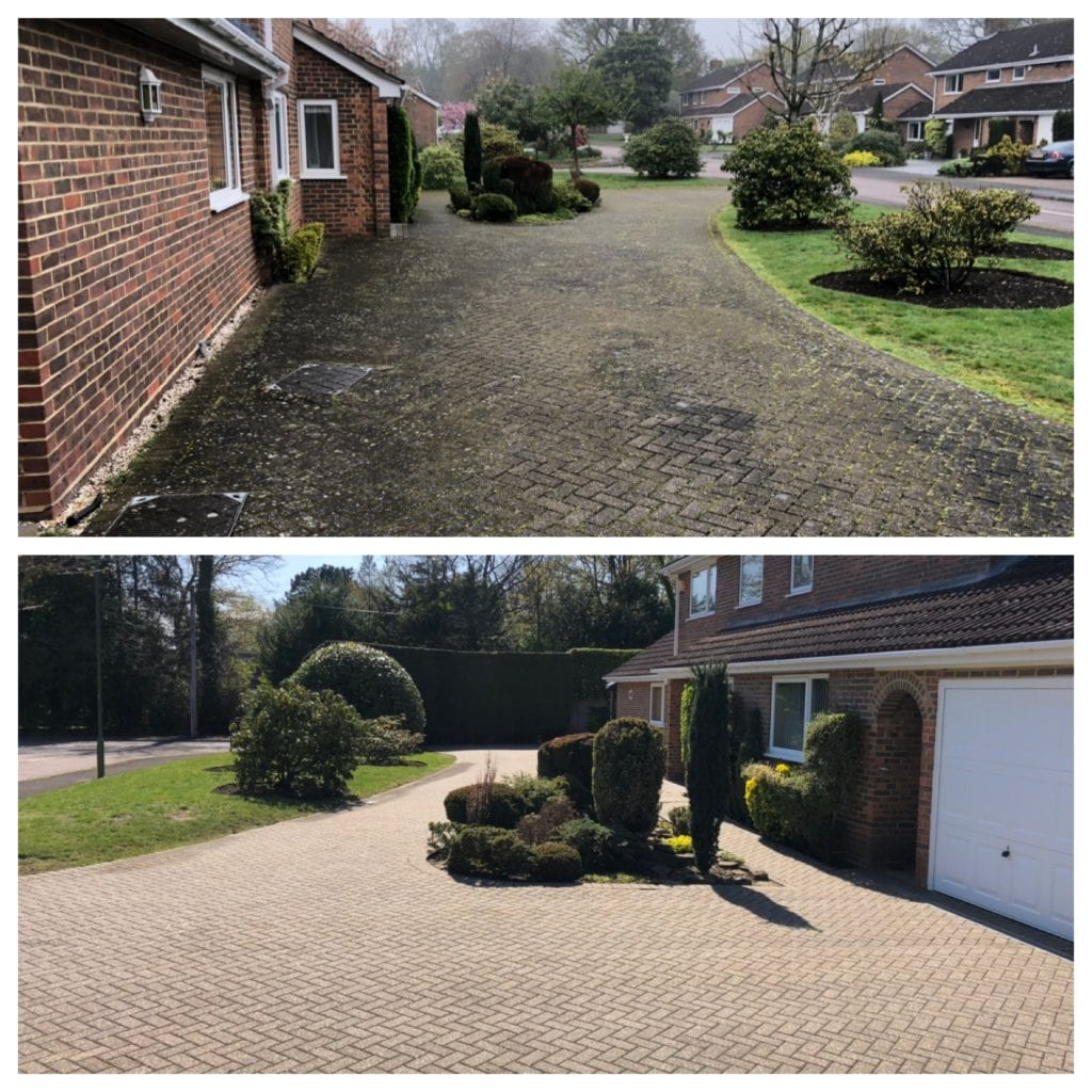 driveway & patio cleaning service, Egham, Surrey