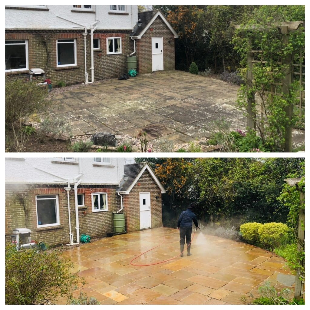 PROFESSIONAL PATIO STEAM CLEANING, HOVE, SUSSEX