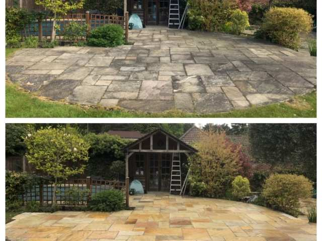 Feel the pressure UK professional patio cleaning services