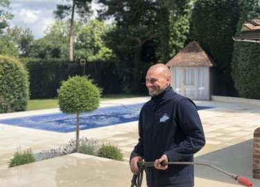 Feel the pressure UK, pressure washing service team member