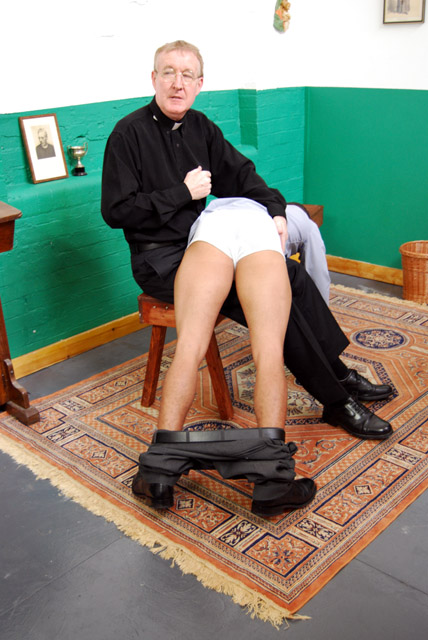 Priest spanking boy on bare ass gay 6