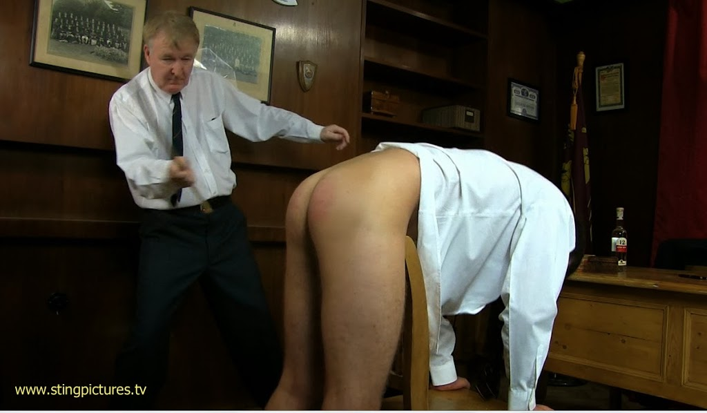Cane headmasters study night her bottom