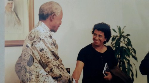 Sana Bagersh with Nelson Mandela