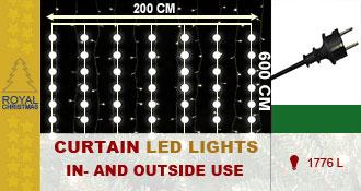 Gordijn Warm LED verlichting - 1776 Lampjes