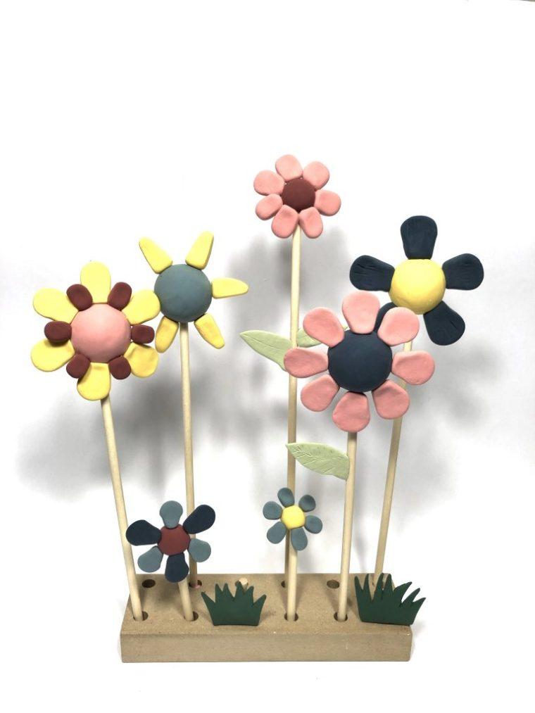 Silk clay bloemen