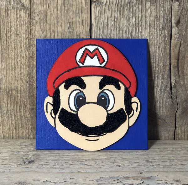 Super Mario schilderij knutselen
