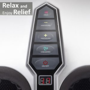 Belmint Shiatsu Foot Massager 5 Button Controls