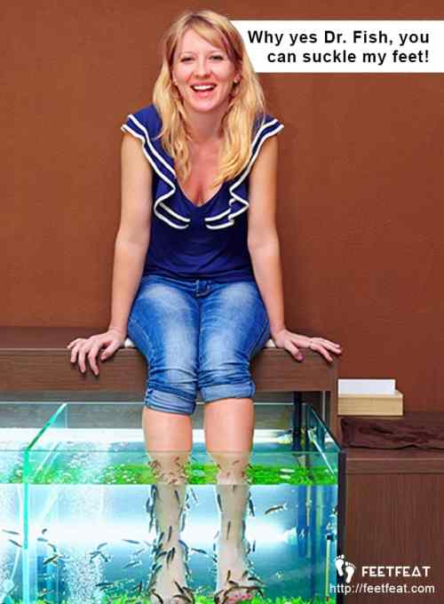 Fish Pedicure Happy Customer