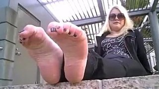 Blonde Mom With Messed Up Feet