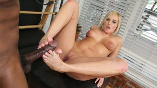 Super Cute Teen Porn Star Kate England Gives A Foot Job With Her Beautiful Feet To A Black Dude