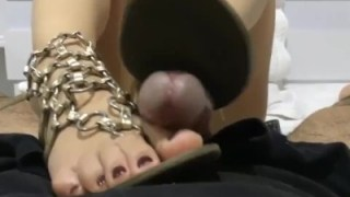 You Can Tell This Girl Is Hot Since She Allows Me To Cum On Her Perfect Feet And Sandals