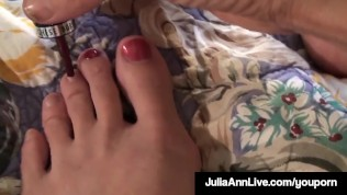 Julia Ann Painting Her Toes Video
