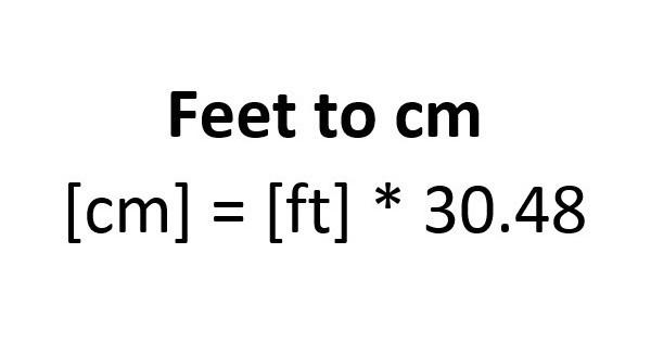 feet to cm convert
