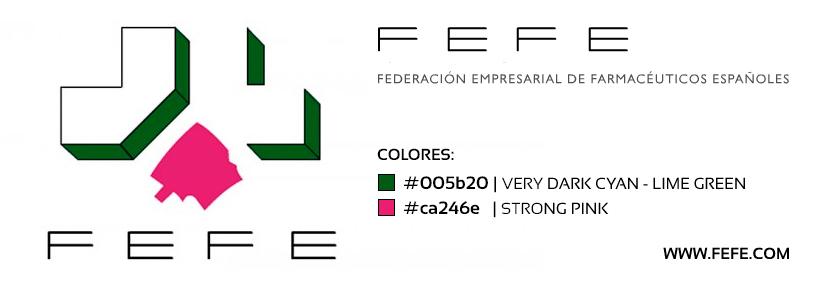 Identidad cromática de FEFE: verde #005b20 y rosa #ca246e
