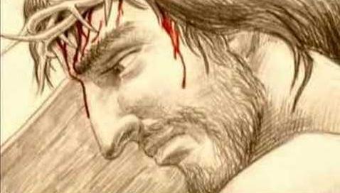 Jesus mit Blut trägt das Kreuz - Symbolbild zum Video Watch the Lamb