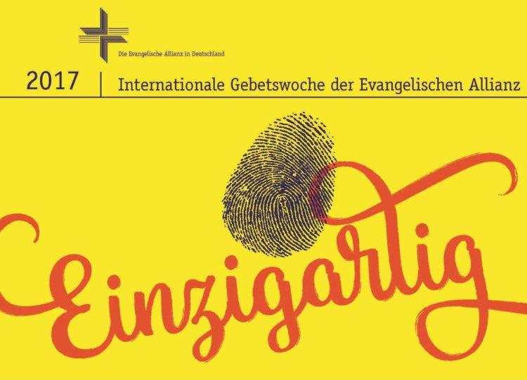 """Logo Allianzgebetswoche 2017 """"Einzigartig"""""""