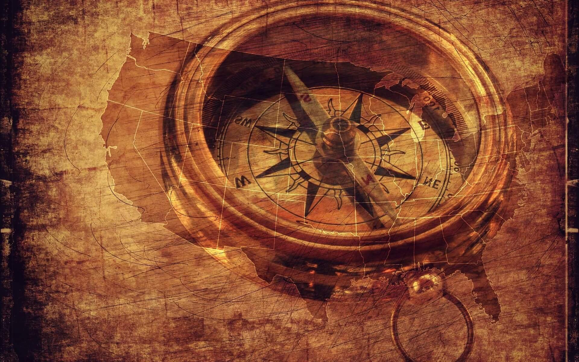 "Kompass, Symbolbild ""Regierung"""