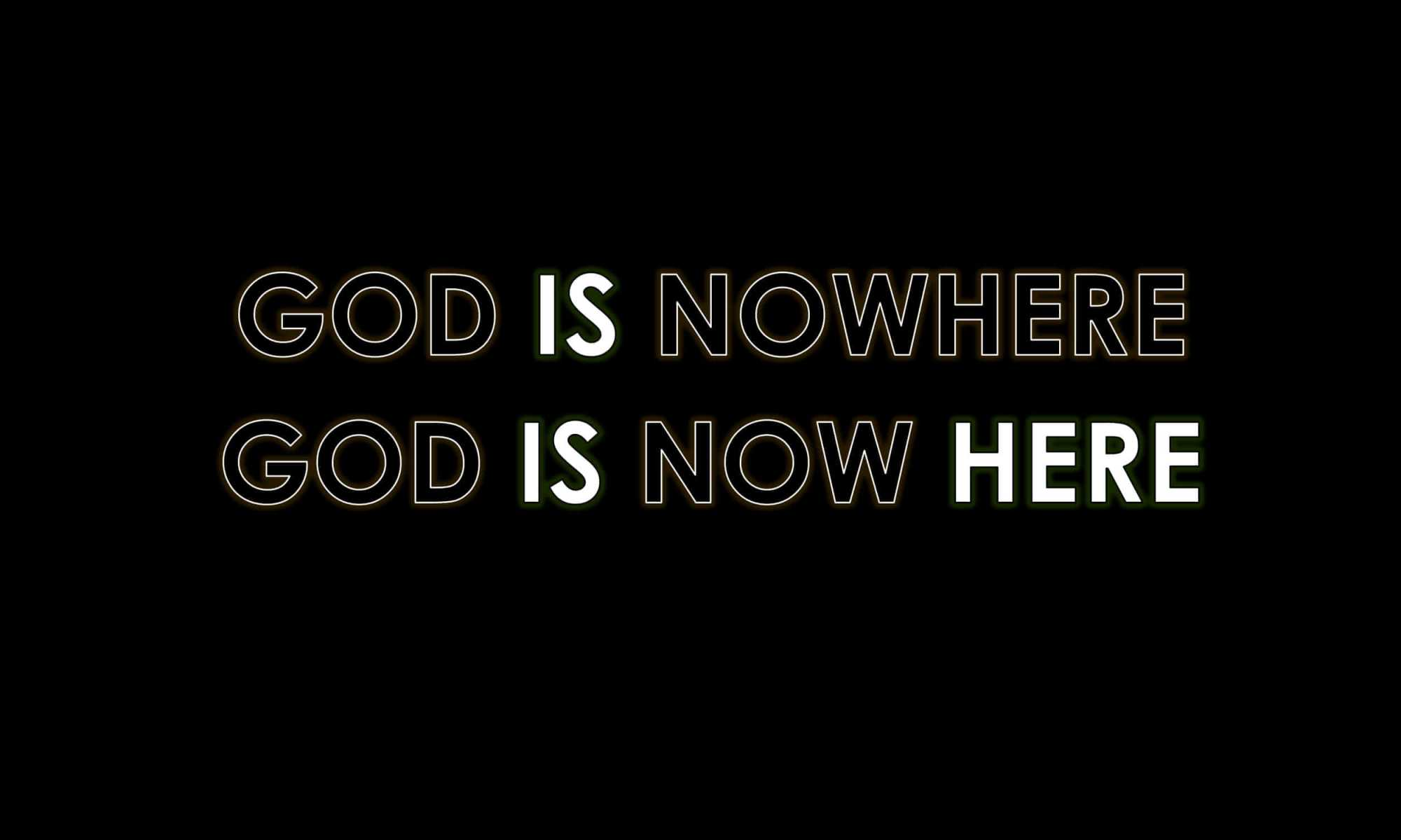 Gott ist hier
