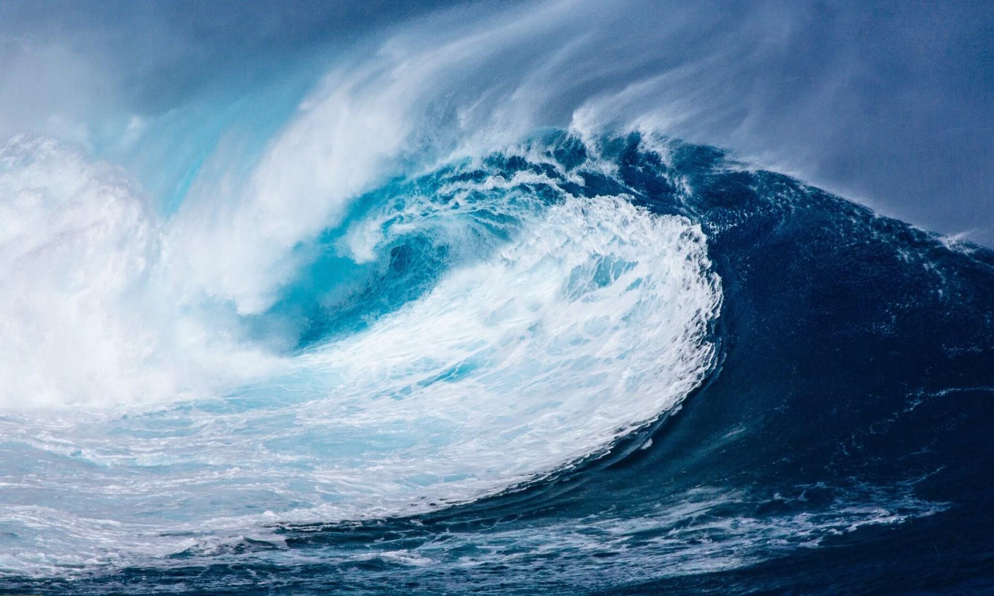 Welle. Bild zur Jahreslosung 2020